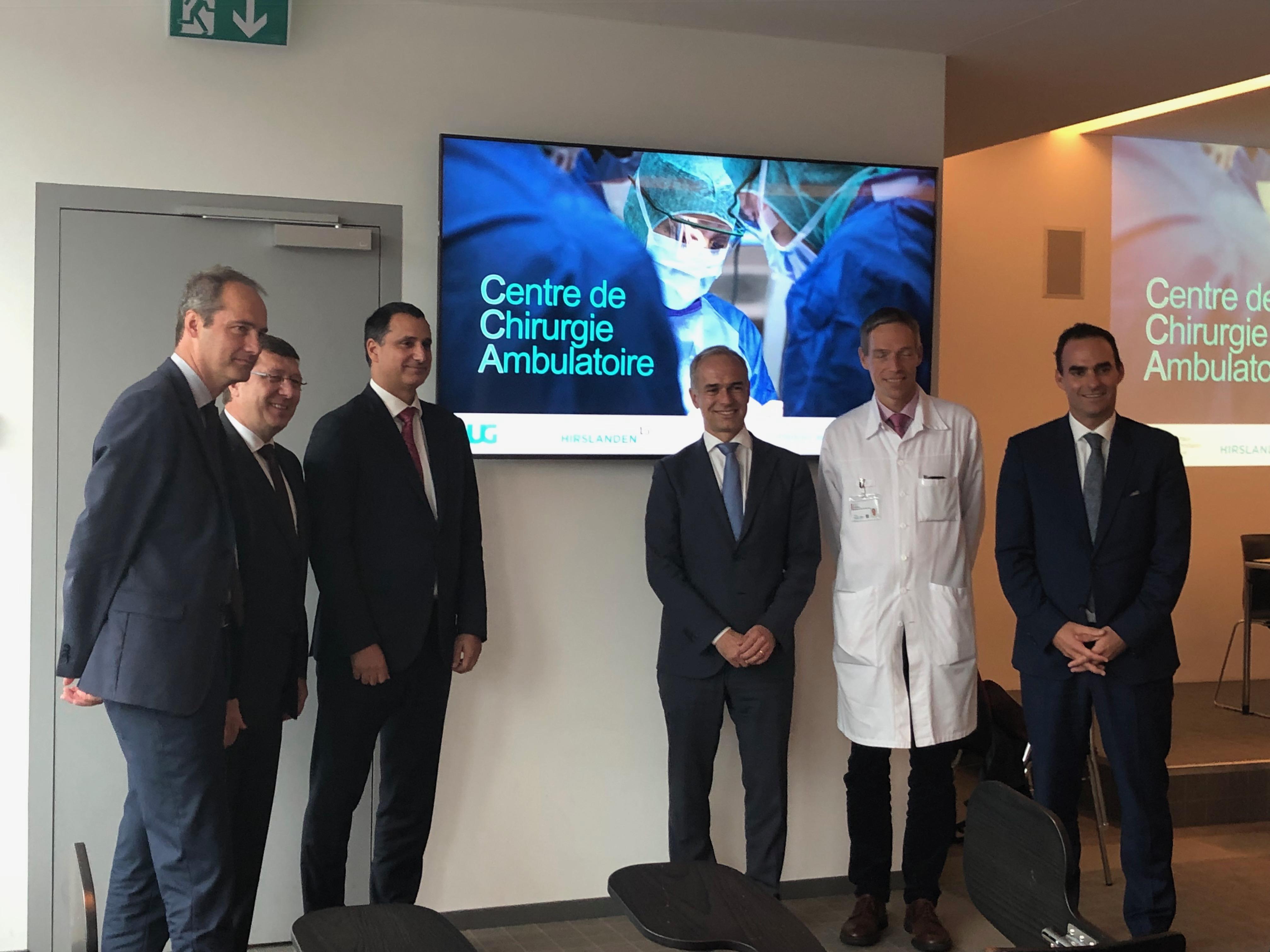 Lors de l'annonce de la création d'un centre de chirurgie ambulatoire HUG-Hirslanden