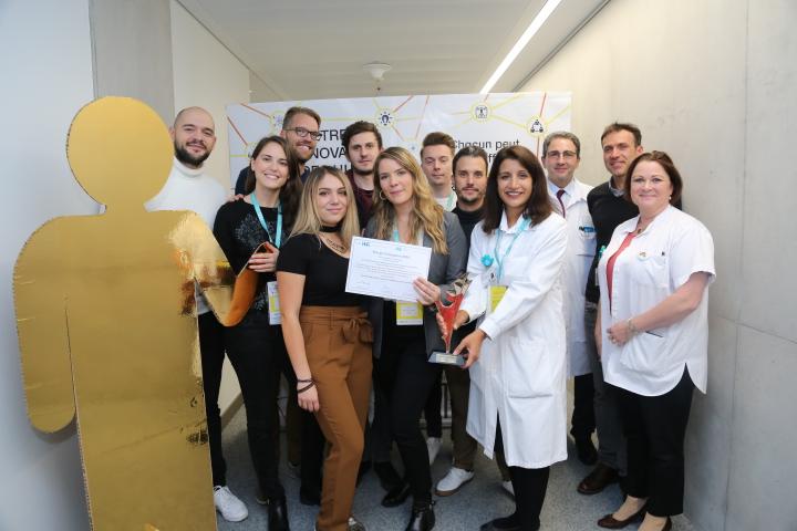 Une partie de l'équipe qui a remporté le Prix de l'innovation 2019 grâce à l'app Concerto