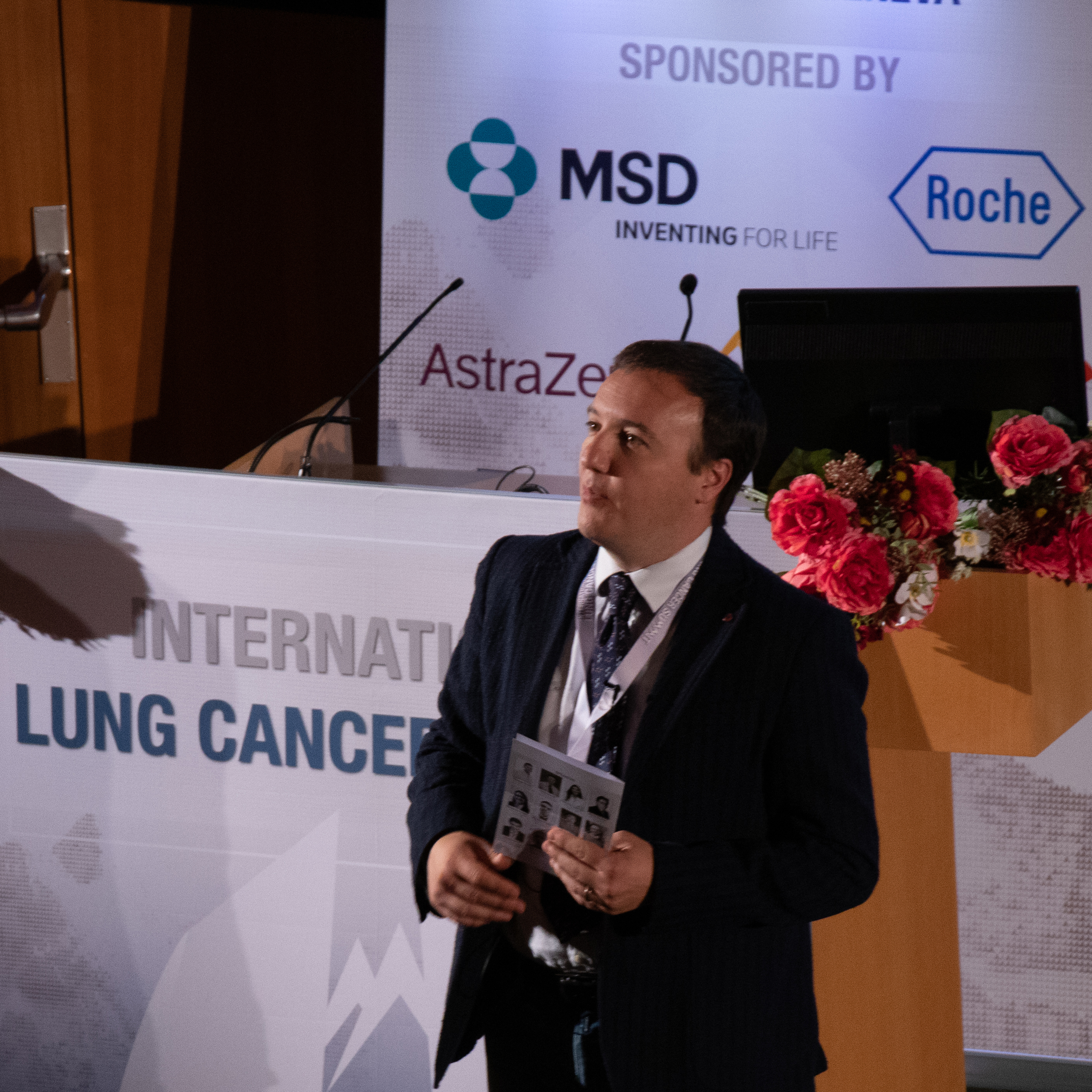 Le Dr Addeo, HUG, lors du Lung cancer summit 2019