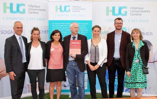 L'équipe des HUG récompensée au Concours 2018 du développement durable par une distinction