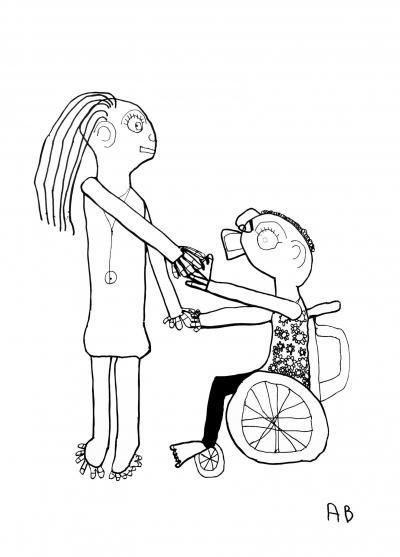 dessin enfant handicap