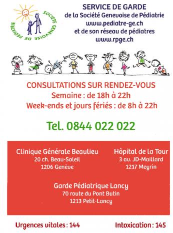 service de garde - clinique des Grangettes