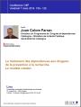 Le traitement des dépendances aux drogues: de la prévention à la recherche. Le modèle catalan
