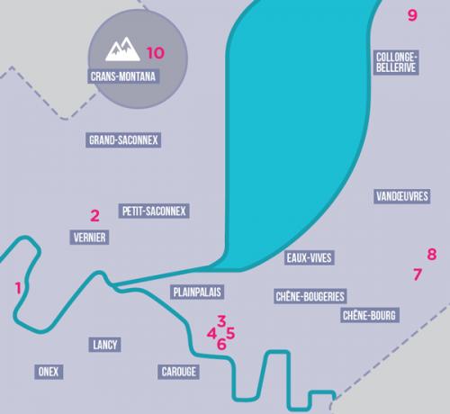 plan des 10 sites hospitaliers