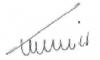 François Canonica - signature