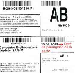 Transfusions de produits sanguins labiles à Genève aux HUG ...