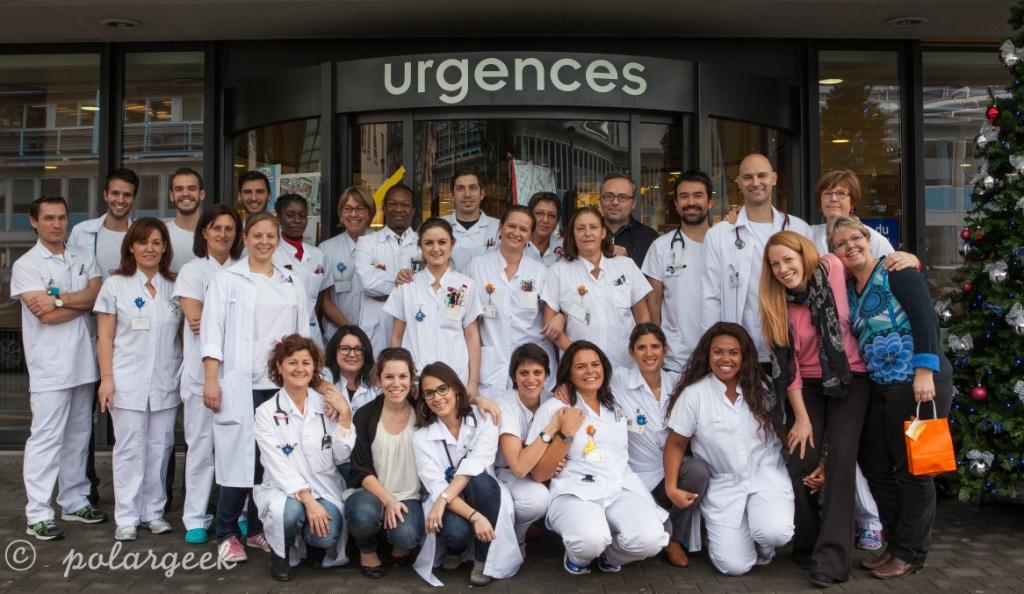 L'équipe du service d'accueil dt urgences pédiatriques des HUG
