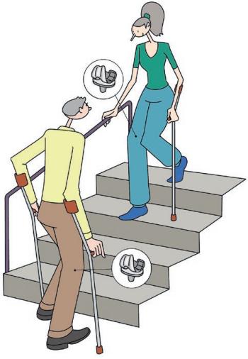 Retour à domicile: monter et descendre des escaliers