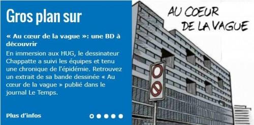 """Un reportage BD de Chappatte """"Au coeur de la vague"""""""