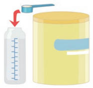 la préparation d'un biberon - étape 3