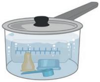 La stérilisation à chaud - étape 2