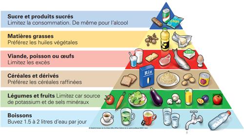 pyramide alimentaire - principes à retenir