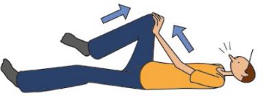 Au mouvement de la main apparaît les douleurs aux cous