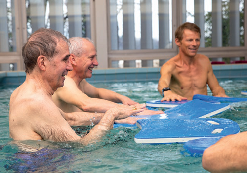 Maladie Parkinson-piscine