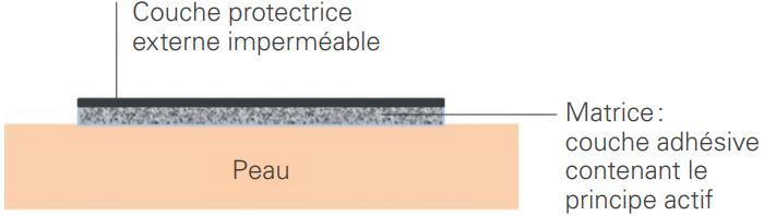 Représentation schématique de la structure d'un patch