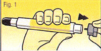 auto-injecteur d'adrénaline étape 1