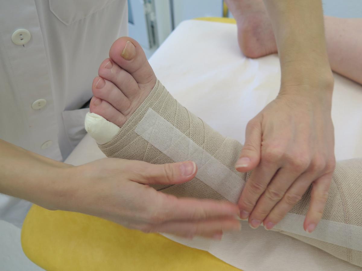 Pose d'un bandage
